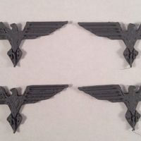 Small Eagle Crest Pair 3D Printing 120461