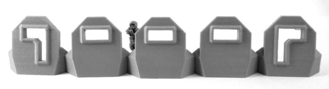 Plain Barricade + L Pair 3D Print 120467