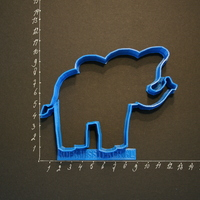 Small An Elephant Cookiecutter from our Foodsafe collection.  3D Printing 120492