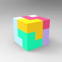 Small Soma Block Puzzle 3D Printing 120547