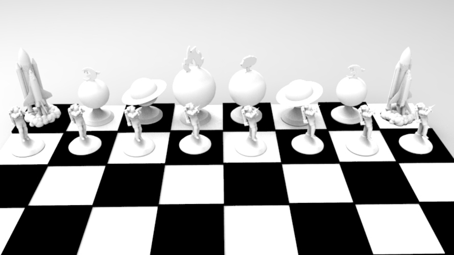 The Space Travel Chess Set (print & add magnets) 3D Print 120553
