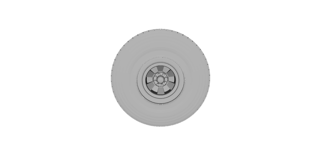Heavy Equipment Wheel and Tire 3D Print 120560
