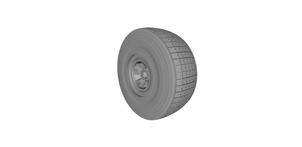 Heavy Equipment Wheel and Tire 3D Print 120561