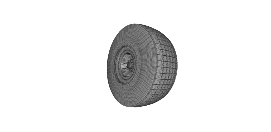 Heavy Equipment Wheel and Tire 3D Print 120563