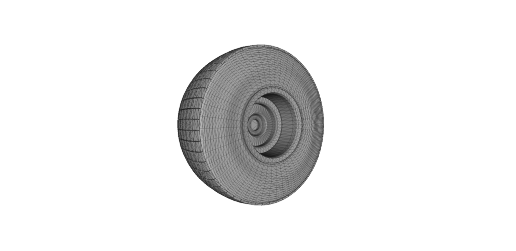 Heavy Equipment Wheel and Tire 3D Print 120564