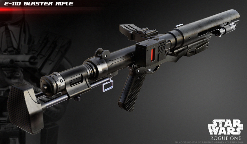 The E-11D blaster rifle 3D print model 3D Print 120566