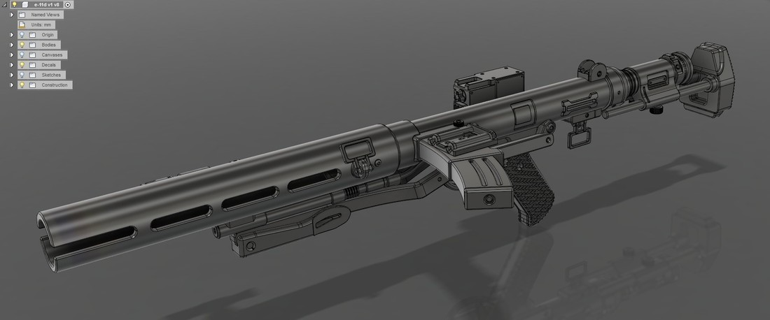 The E-11D blaster rifle 3D print model 3D Print 120568