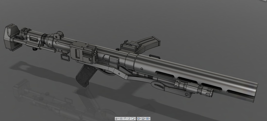 The E-11D blaster rifle 3D print model 3D Print 120569