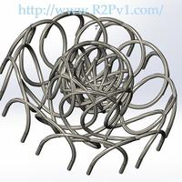 Small Helical Spirals Candy Dish Holder 3D Printing 120651