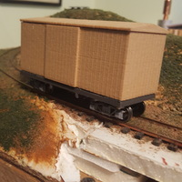 Small 16' boxcar model ON30  3D Printing 120703
