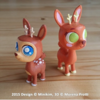 Small Baby Deer - by Minikim  3D Printing 120716