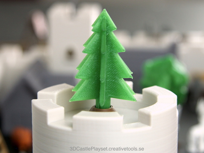 Simple 3D-printable pine tree 3D Print 120789