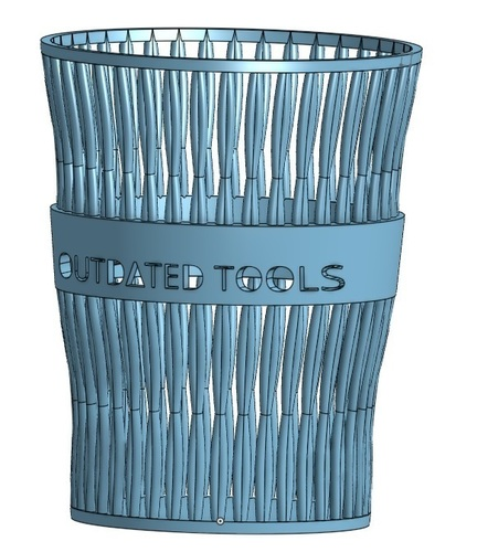 Outdated Tools - Pencil Cup 3D Print 120790