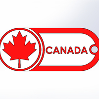 Small Keychain-Canada-dual color 3D Printing 120841