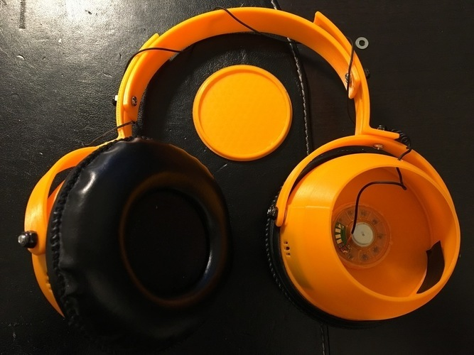 "Tunable ""Open/Closed"" Headphones  3D Print 120873"