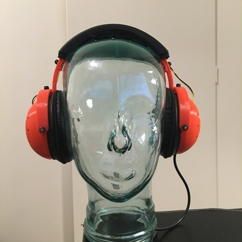 "Tunable ""Open/Closed"" Headphones  3D Print 120874"