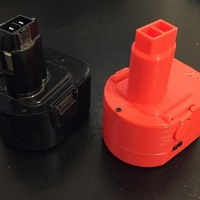 Small Black and Decker A9252 battery housing 3D Printing 120891