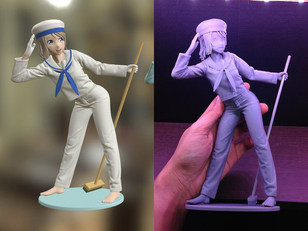Medium Sailor Girl 3D Printable Figure 3D Printing 120933