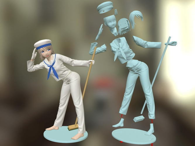 picture regarding 3d Printable Figures called Sailor Woman 3D Printable Determine