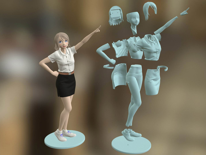 Freshy Girl 3D Printable Figure 3D Print 120951