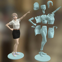 Small Freshy Girl 3D Printable Figure 3D Printing 120951