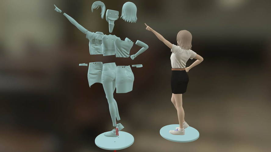 Freshy Girl 3D Printable Figure 3D Print 120964
