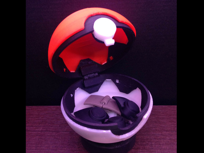 PokeBall with Belt Clip 3D Print 120973