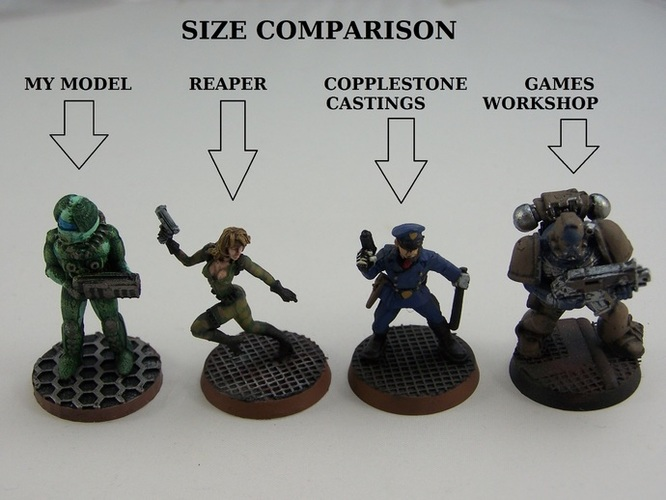 28mm Scifi Corporate Mercenary 3D Print 1210