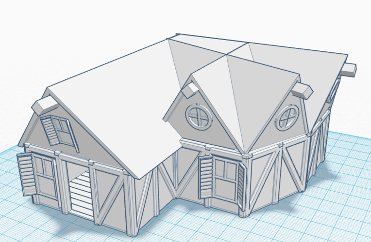 Simple Old House (Medium Sized) 3D Print 121186