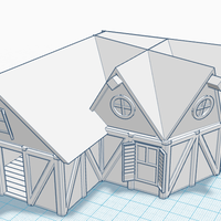 Small Simple Old House (Medium Sized) 3D Printing 121186