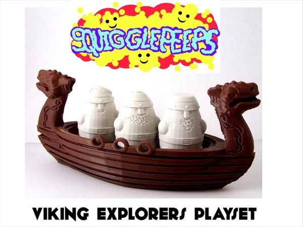 Medium Squigglepeeps Viking Explorers Playset 3D Printing 1214