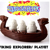 Small Squigglepeeps Viking Explorers Playset 3D Printing 1214