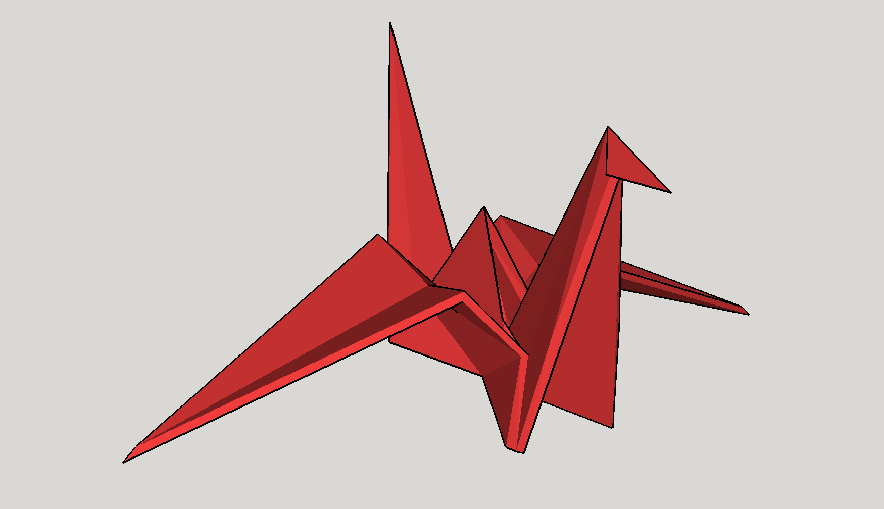 3D Printed Origami Crane By Wannesjanssens