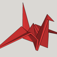 Small Origami Crane  3D Printing 121497