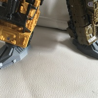 Small Combiner wars feet- single part  3D Printing 121614