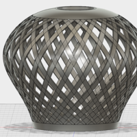 Small Funky lampshade 3D Printing 121688