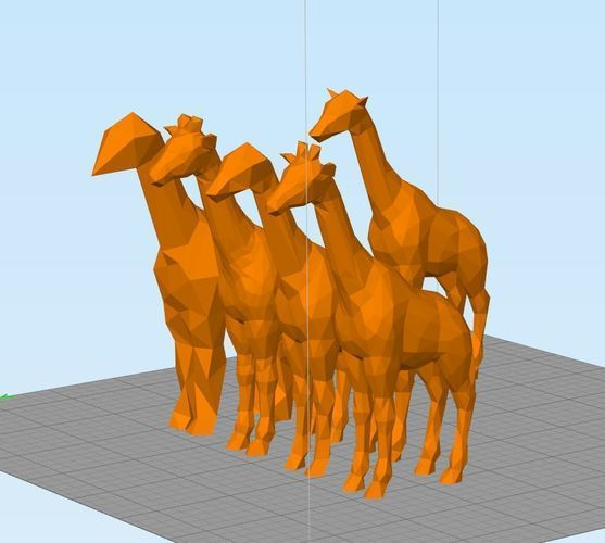 Low Poly Giraffe and Friends 3D Print 121730