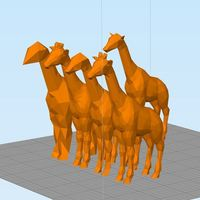 Small Low Poly Giraffe and Friends 3D Printing 121730