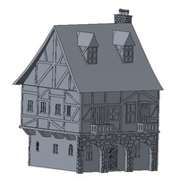 Small Another Tudor style house for Wargaming 3D Printing 121847