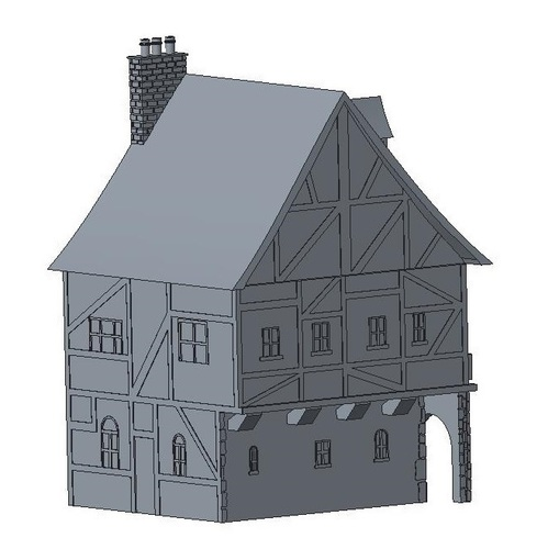Another Tudor style house for Wargaming 3D Print 121848