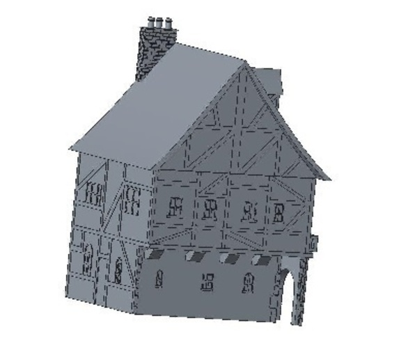 Another Tudor style house for Wargaming 3D Print 121850
