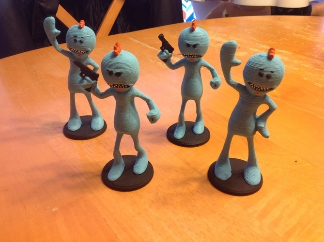 Mr. Meeseeks - New & Old - RICK AND MORTY 3D Print 121891