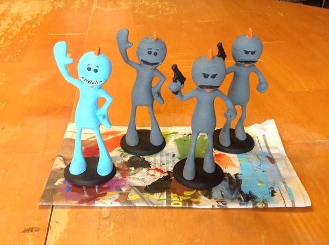 Mr. Meeseeks - New & Old - RICK AND MORTY 3D Print 121892