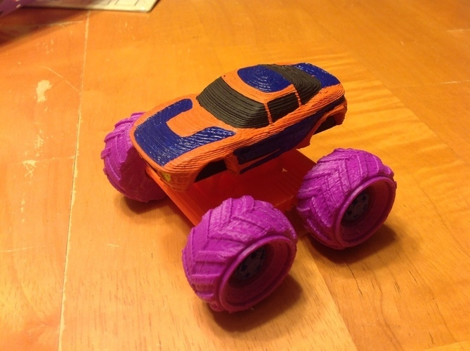 Mini Monster Rally Fighter With Suspension - REMIX 3D Print 121900