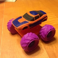 Small Mini Monster Rally Fighter With Suspension - REMIX 3D Printing 121900