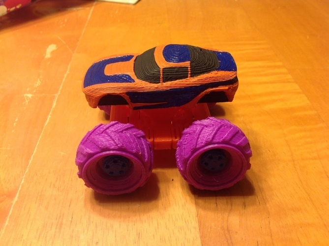 Mini Monster Rally Fighter With Suspension - REMIX 3D Print 121901