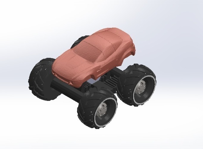Mini Monster Rally Fighter With Suspension - REMIX 3D Print 121902