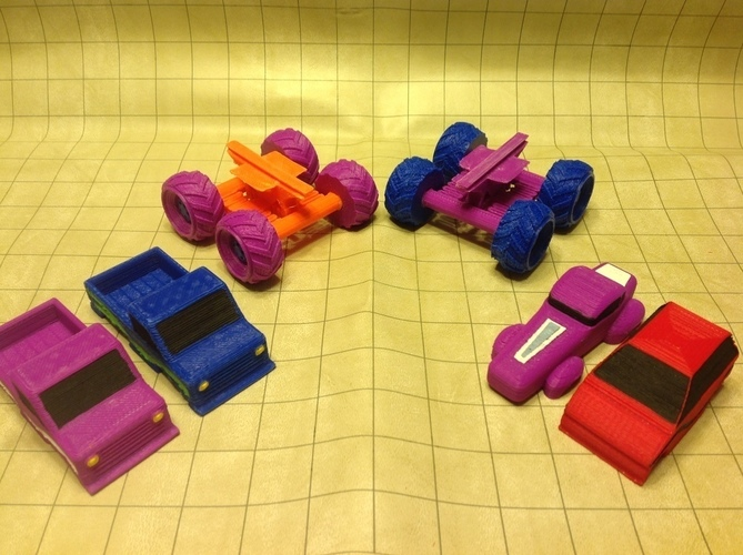 Mini Monster Truck/Car/Smart With Suspension - REMIX 3D Print 121904