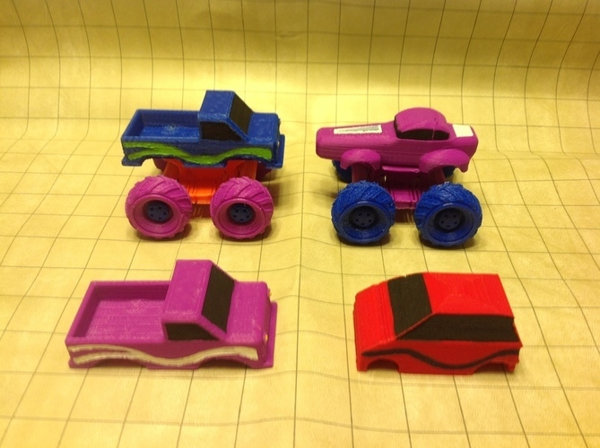 Mini Monster Truck/Car/Smart With Suspension - REMIX 3D Print 121905