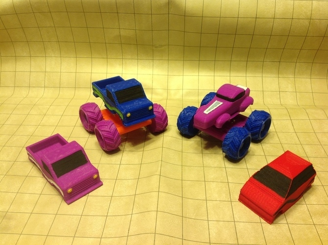 Mini Monster Truck/Car/Smart With Suspension - REMIX 3D Print 121906